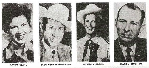 patsy cline ,cowboy copas ,hawkshaw hawkins died in plane crash Mar 5, 1963