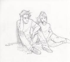 The Heroes of Olympus achtergrond with anime entitled percy and annabeth