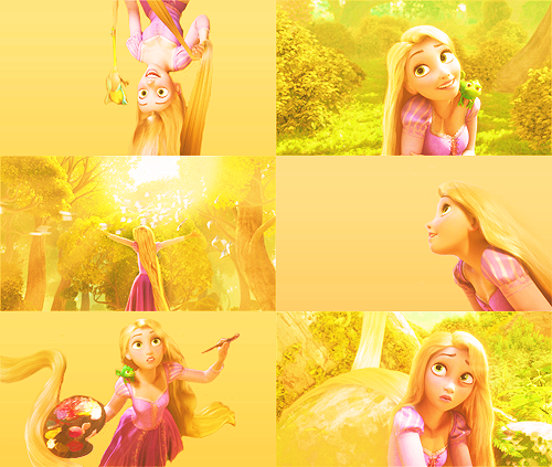 rapunzel + yellow