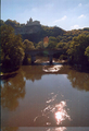 rudelsburg castle above river saale - castles photo