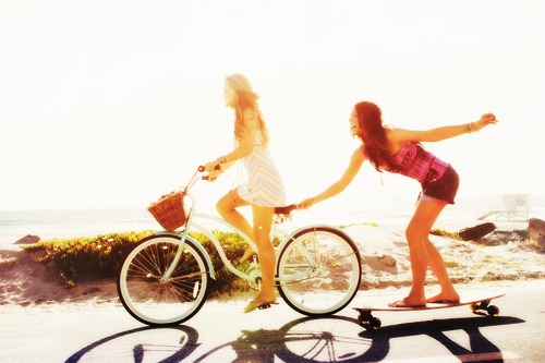 Фото Фан Обои containing a bicycling, a cycling, and a велосипед entitled summer friendship