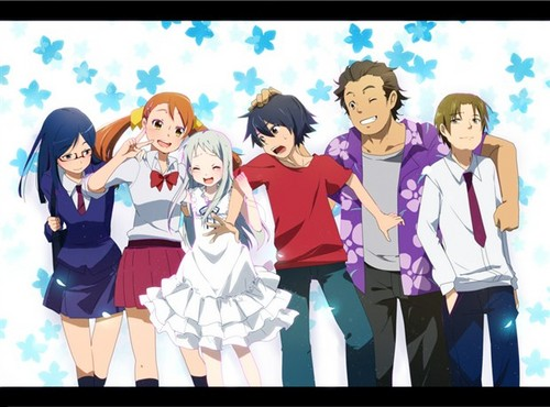 AnoHana wallpaper containing anime called super peace busters friends 4ever!!