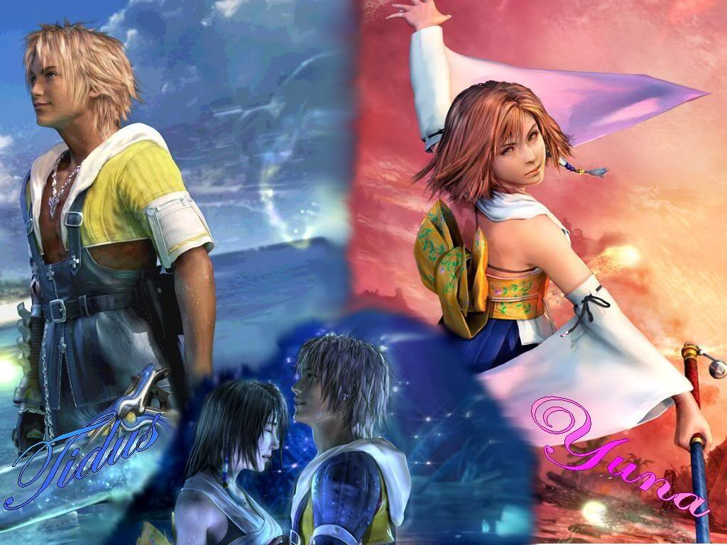 Final Fantasy X images Tidus and Yuna wallpaper and background