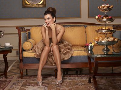 Cote de Pablo fond d'écran possibly with a living room, a family room, and a drawing room titled Cote de Pablo - CBS Watch Magazine - December 2010