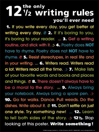 12 1/2 Writing Rules