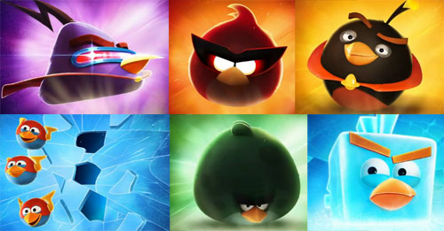 6 Angry Birds Space