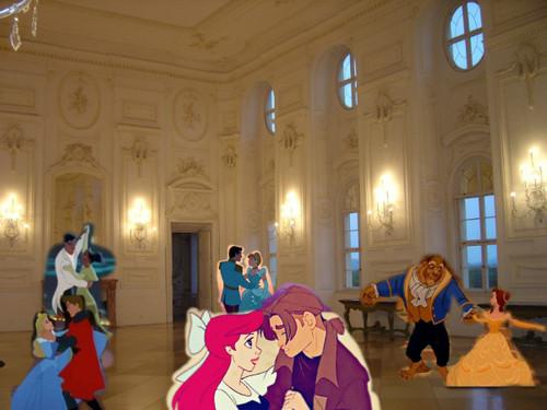 A 迪士尼 Crossover Bal Scene