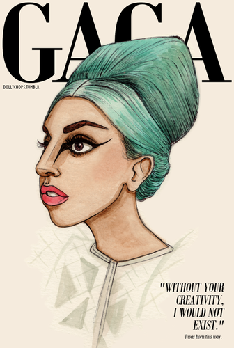 A M A Z I N G  GAGA DRAWINGS by HELEN GREEN - lady-gaga Fan Art