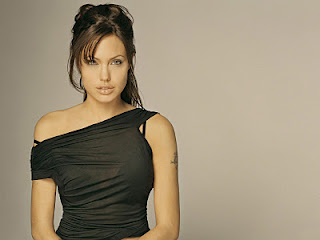 Angelina Jolie wallpaper possibly containing a cocktail dress, a chemise, and a bustier titled Angie