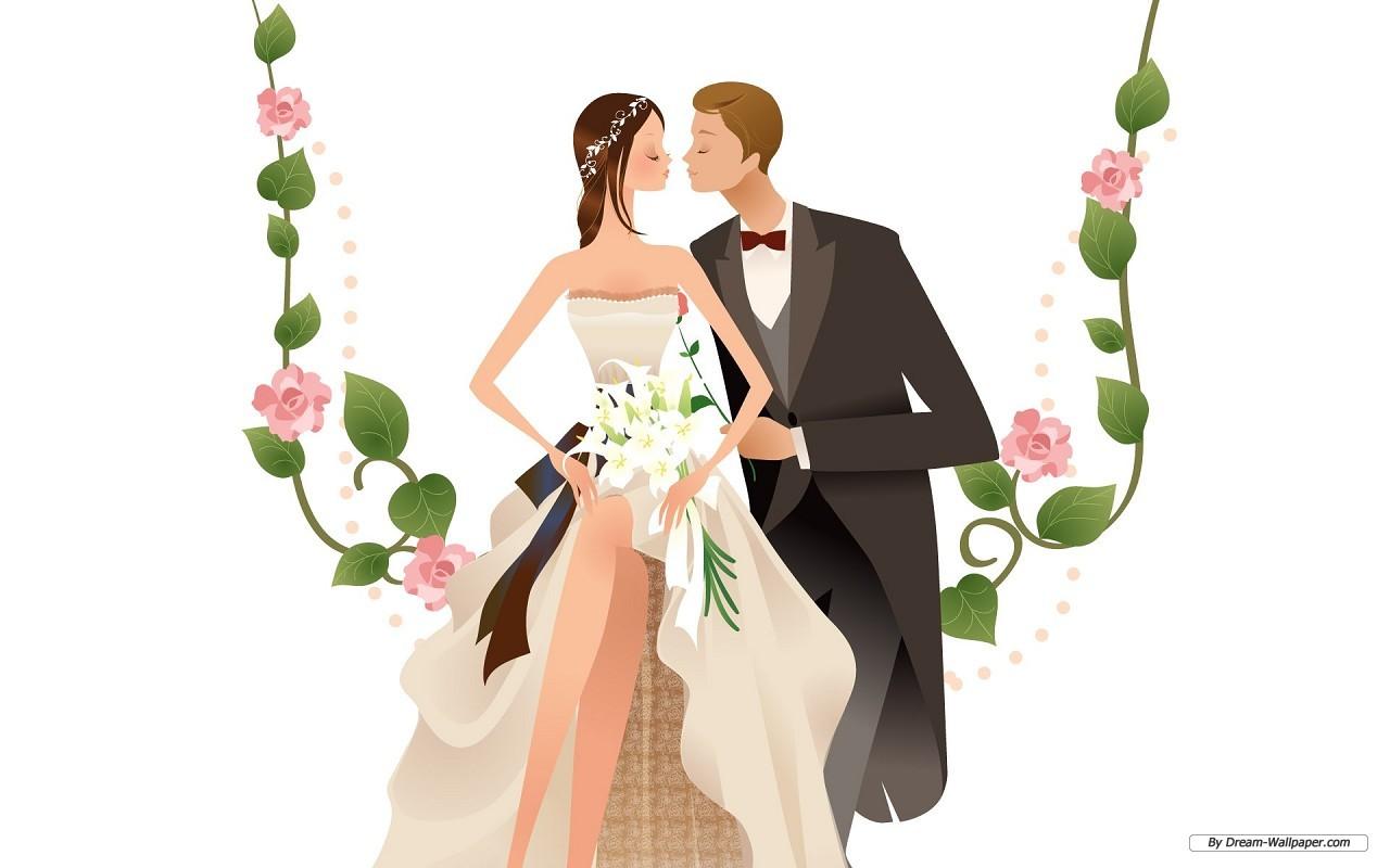 Animated Wedding - Weddings Wallpaper (31771354) - Fanpop