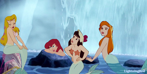 disney crossover achtergrond called Ariel and the mermaids