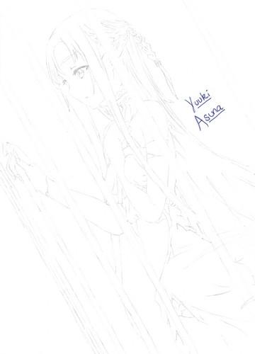 Asuna Yuuki Hintergrund entitled Asuna (Drawn Von Me)