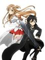 Asuna and Kirito - asuna-yuuki fan art