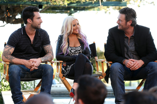Attends 'The Voice' Press Junket And kaktel Reception In Los Angeles (22 August 2012)