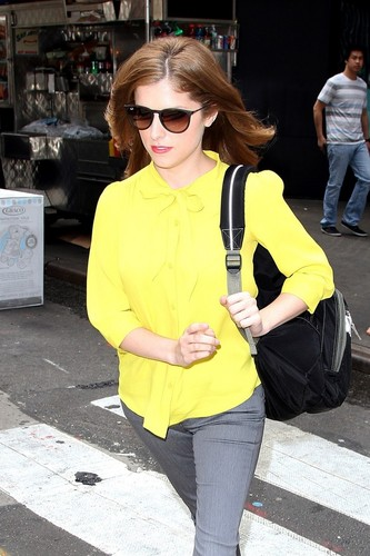 August 08 Arriving to TV Studios in New York to Promote ParaNorman