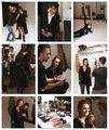 BTS photos of Ed&Leighton Elle Korea Shoot