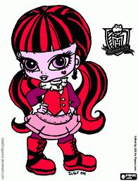 Monster High karatasi la kupamba ukuta containing anime titled Baby Draculaura