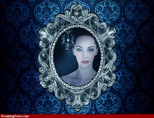 Beauty reflects in the mirror
