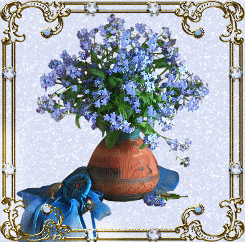 Blue Flowers for my Fairy Sister
