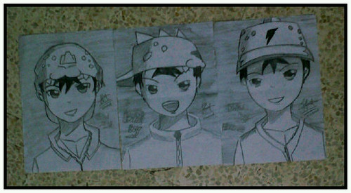 Boboiboy wallpaper possibly containing anime called BoBoiBoy Fanart by my friend