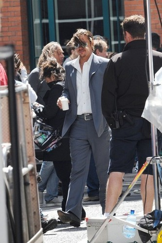 Brad Pitt Films 'The Counselor' [August 4, 2012]