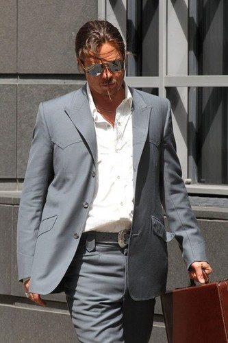 Brad Pitt Films 'The Counselor' [August 4, 2012] - brad-pitt Photo