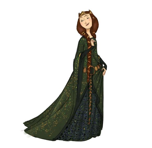 Queen Elinor concept art