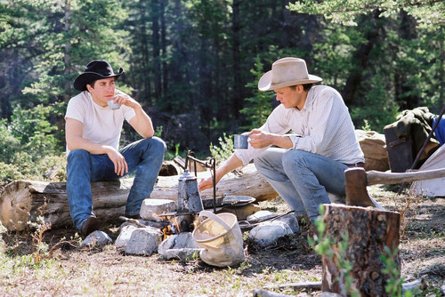 映画 壁紙 probably containing a lumbermill entitled Brokeback Mountain Production Stills