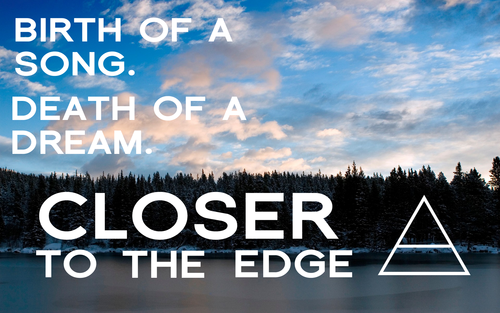 30 Seconds To Mars wallpaper probably with a sunset called CLOSER TO THE EDGE WALLPAPER