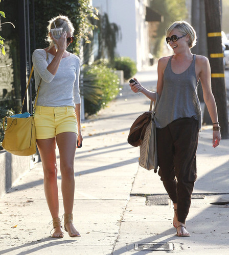 Cameron Diaz and Portia de Rossi Leave a Salon in LA [August 9, 2012]