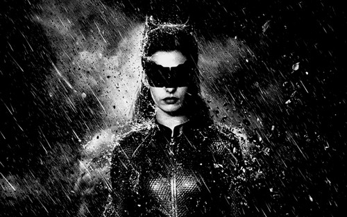 The Dark Knight Rises wallpaper possibly with a fountain and a street called Catwoman