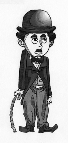 Charlie Chaplin karatasi la kupamba ukuta probably containing anime titled Charlie