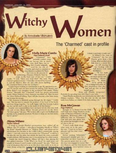 চার্মড্ Edition - Magazine Scans - The Hollywood Reporter