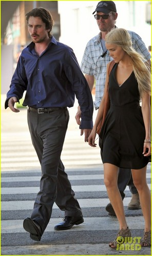 Christian Bale & Isabel Lucas on the set of 'Knight of Cups' - christian-bale Photo