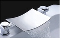 Chrome Finish Two Handles Waterfall Bathtub Faucet