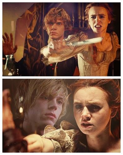 cazadores de sombras fondo de pantalla probably with a portrait titled Clary and Sebastian/Jonathan
