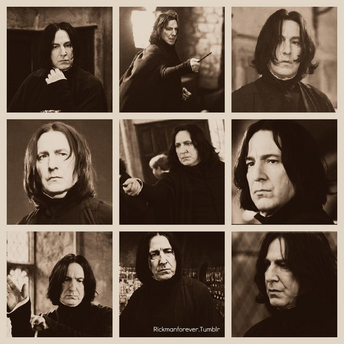 Collage of Snape.