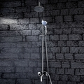 Contemporary Shower Faucet with 6 inch Shower Head and Hand Shower