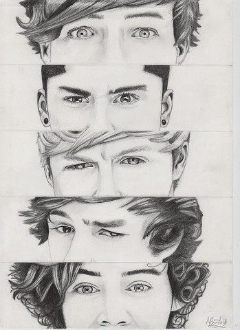 one direction wallpaper probably containing a portrait titled Cool pencil drawing