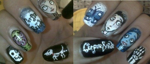 Corpse Bride Nails