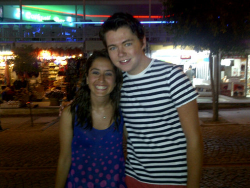 Damian meets a fan while on holiday in Bodrum, Turkey
