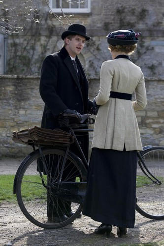 Downton Abbey wolpeyper possibly with a velocipede and a chuck wagon titled Downton Abbey Season 1