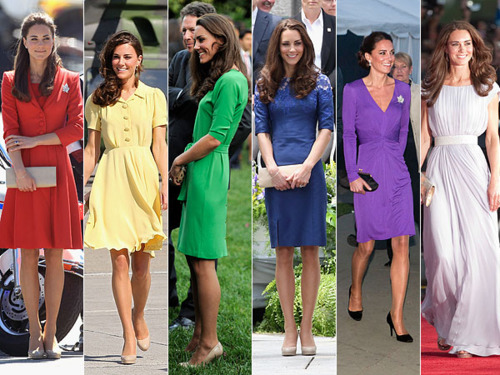 Duchess Catherine in the as cores of the arco iris, arco-íris