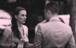 Ed Westwick & Leighton Meester Eye-sex on Gossip Girl set (August 10, 2012).