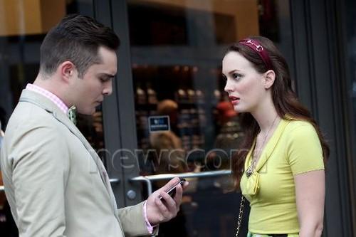 Ed and Leighton on set 10.08.2012
