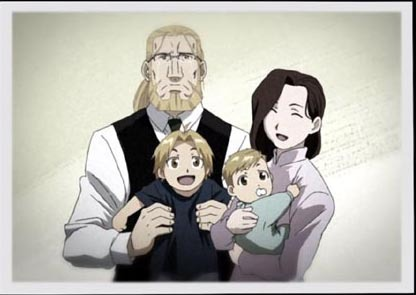 full metal alchemist wallpaper entitled Elric family