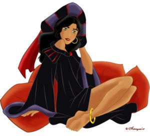 villanos de disney fondo de pantalla titled Esmeralda as Frollo