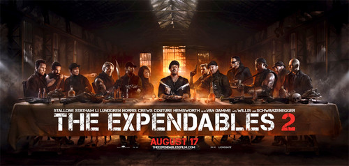 The Expendables 2- Last ужин Poster