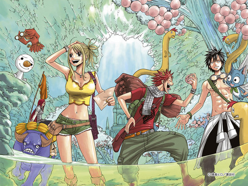 Anime Hintergrund containing Anime entitled Fairy tail characters !