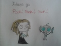 Fishies go.... *a lenore & Gir crossover*